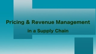 Pricing Revenue Management In Supply Chain