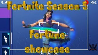 NEW FORTNITE SEASON 5 FORTUNE SKIN SHOWCASE EMOTES + DANCES