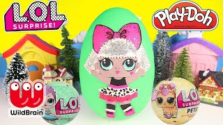 BIGGEST LOL SURPRISE! Diva Play Doh Surprise Egg Opening with LOL Glitter | Ellie Sparkles Pt 2