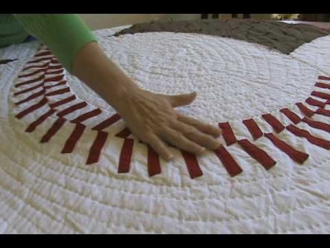 A Baseball Quilt - YouTube : baseball quilt fabric - Adamdwight.com