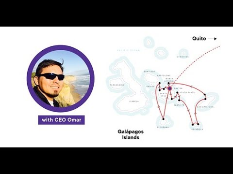 A Virtual Live Small Group Tour Of The Galapagos With Our CEO Omar.