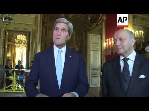 Secretary of State John Kerry met his French counterpart Thursday, as both countries weighed options