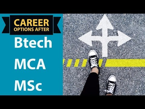 Career Options After B.Tech / M.Tech / MCA / BE / MSc / BCA / MS