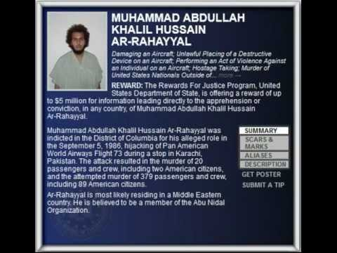 FBI Wanted 2012 - MUHAMMAD ABDULLAH KHALIL HUSSAIN AR-RAHAYYAL  ($5.000.000 Reward)