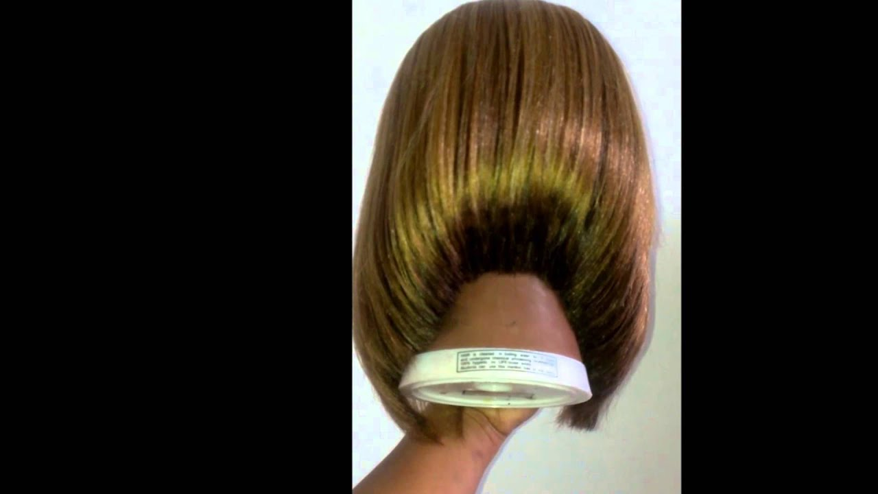Synthetic long wig cut into A line Bob