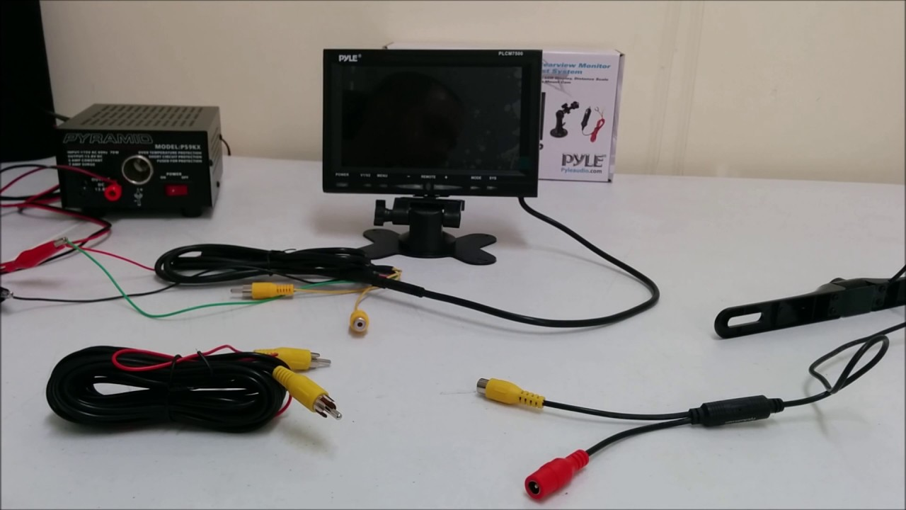 medium resolution of pyle plcm7500 backup camera system setup and overview video