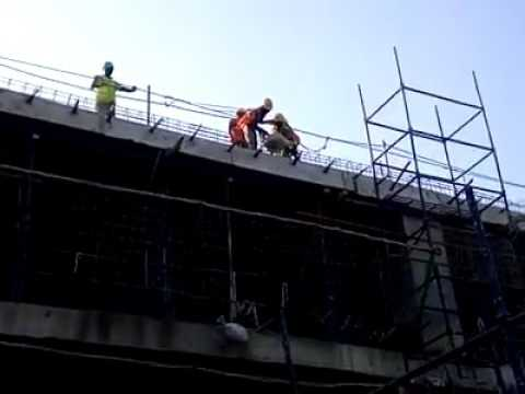 SAFETY NET LOAD DROP TEST AT CONSTRUCTION SITE
