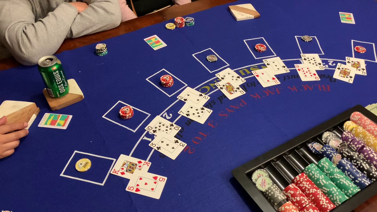 $10 buy-in $70 prize  $5 min-$1,000 max bet Blackjack with friend's and family Nov 7th 2020 Game 1