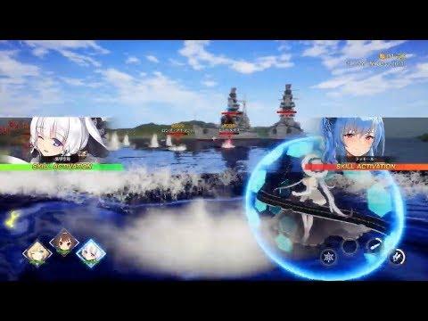 Azur Lane Crosswave Trailer + Actual Gameplay Reveal PS4