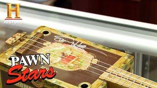 Pawn Stars: Corey Tunes Up a Sammy Hagar Signed Cigar Box Ukulele (Season 13) | History