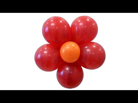 Цветок из круглых воздушных шаров