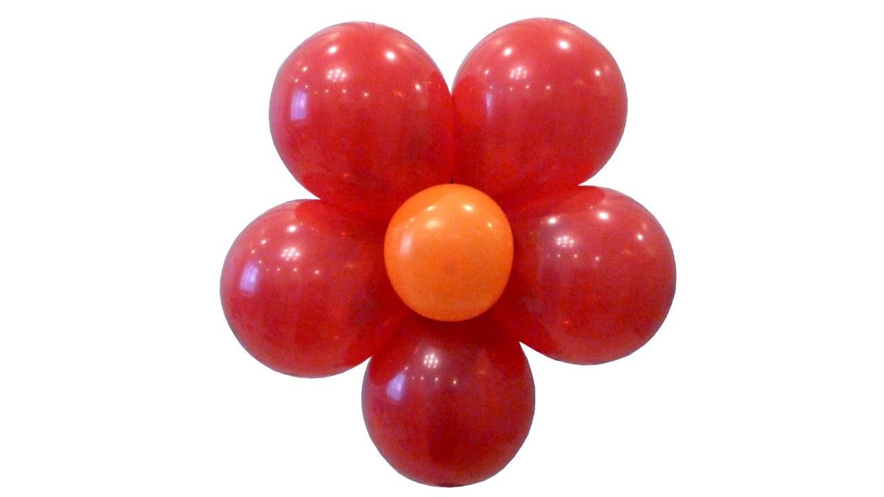 Цветы из круглых шаров фото пошагово