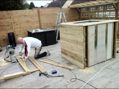 diy how to build a hot tub youtube. Black Bedroom Furniture Sets. Home Design Ideas