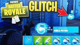 *NEW* MINI SHIELDS GLITCH in FORTNITE BATTLE ROYALE (NEW FORTNITE UPDATE)