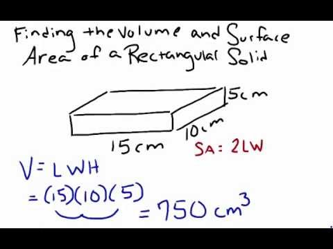 Finding the Volume and Surface Area of a Rectangular Solid