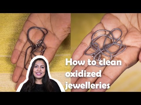How to clean oxidized jewellery at home ?? [ With Subtitles ]