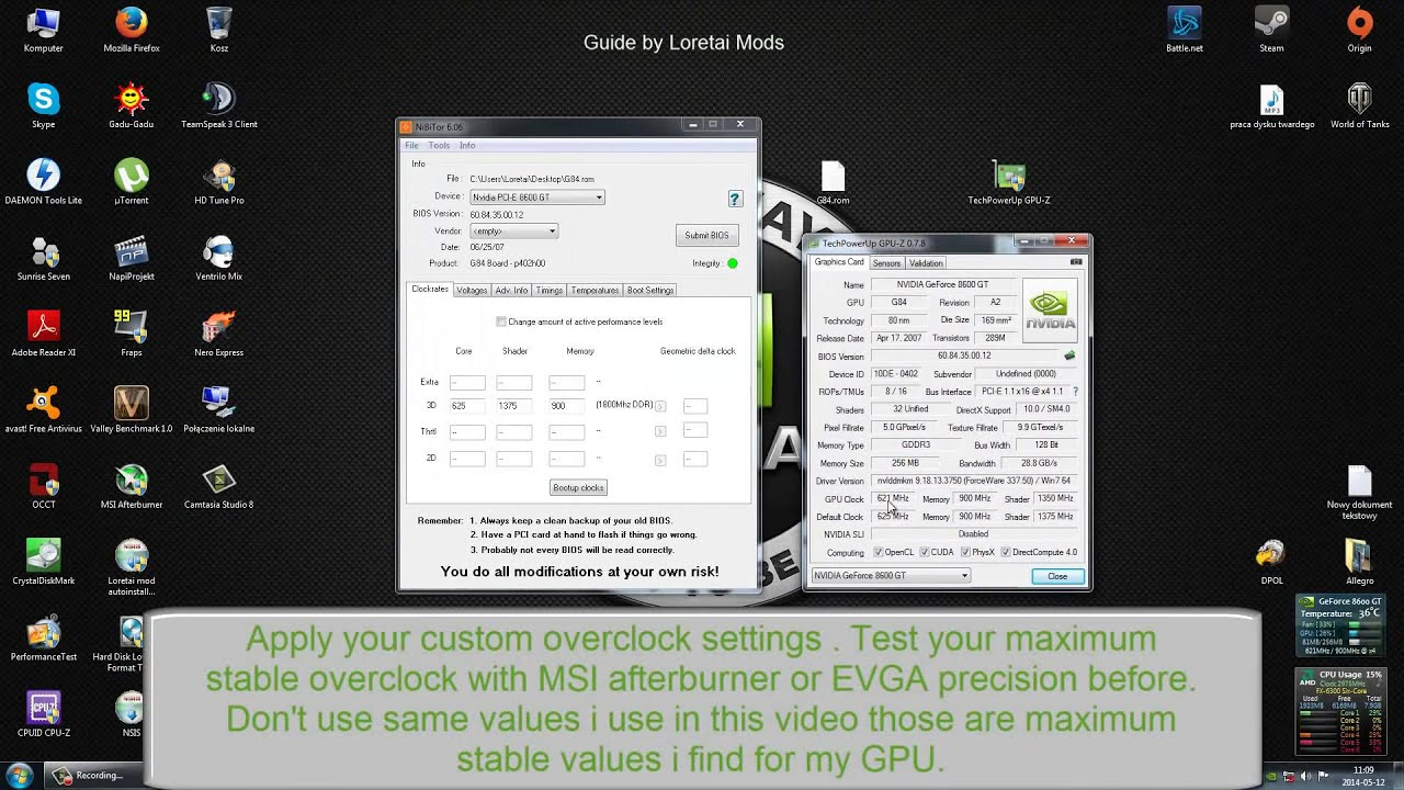HOW TO: flash your nvidia graphics