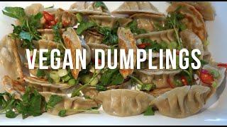 Mushroom & Veggie Dumplings (VEGAN)