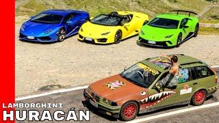 Six Lamborghini Huracán On The Most Beautiful Roads In The World