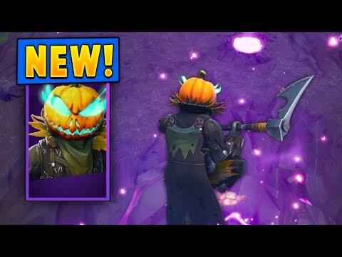 *NEW* Hollowhead Pumpkin Skin + Carver Pickaxe! (Fortnite)