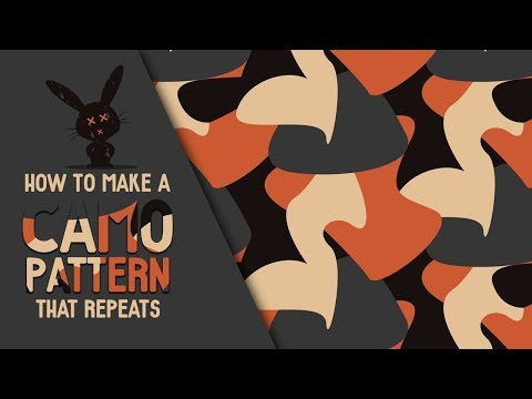 How To Make A Camo Pattern That Repeats - Illustrator Tutorial