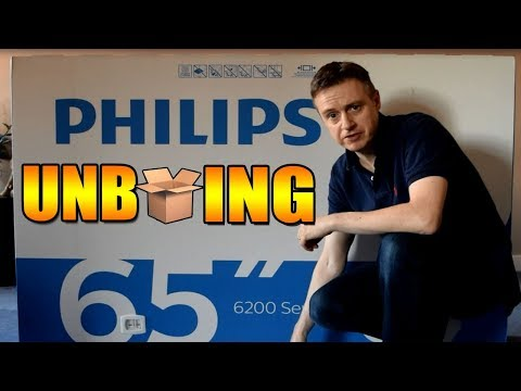 Unboxing Phillips 65 inch TV 65PUS6262 Ultra HD with Ambi Light 3 Technology