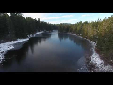 Spectacle Lake Frozen Over - BC Provincial Park - 4K