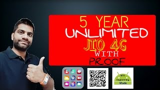 5 years unlimited jio 4g free with proof