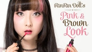 Sweet Pink & Brown Makeup Tutorial by RinRin Doll - スウィートメイク