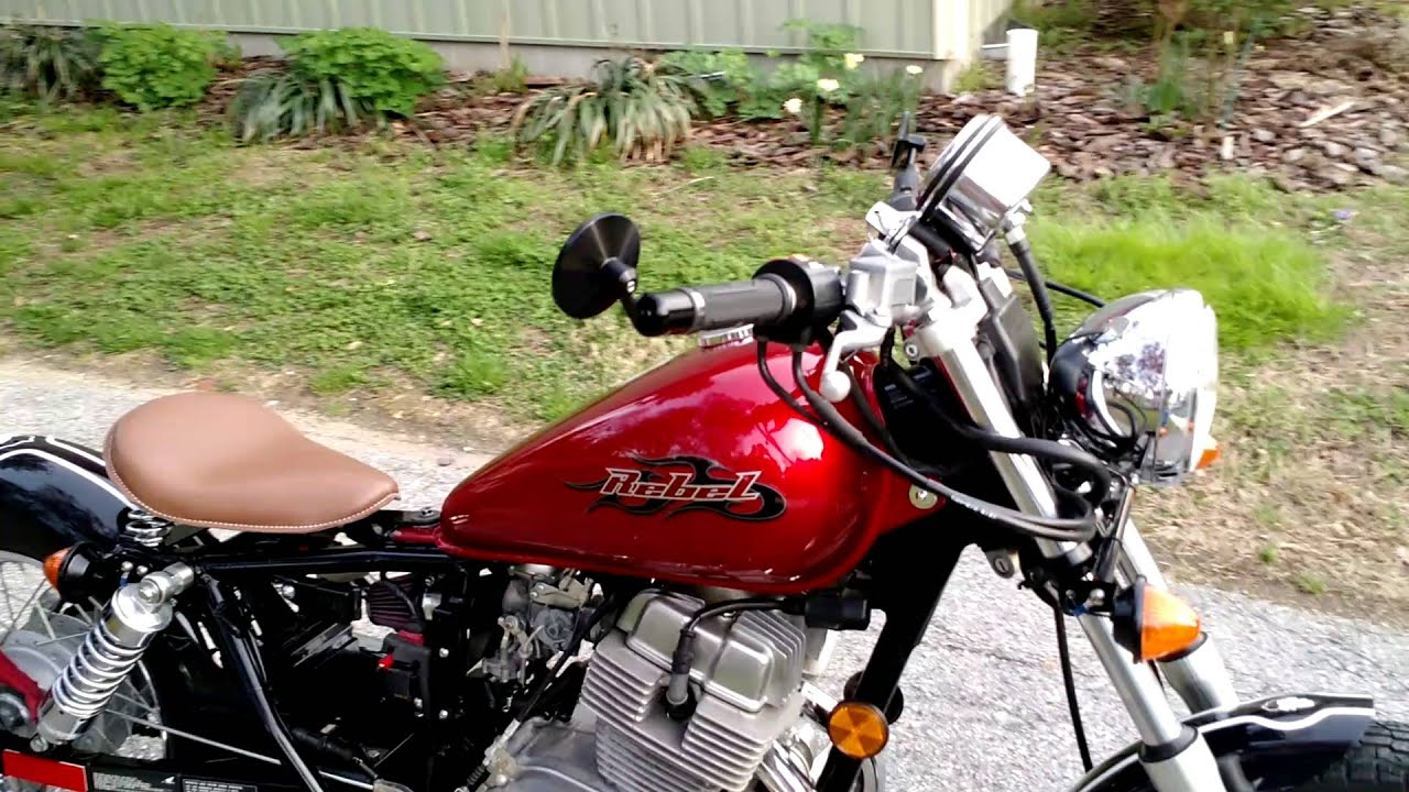 Honda Shadow 750 With Bobber Kit From Blue Collar Bobbers Bike White Rebel Motorcycle Project Not