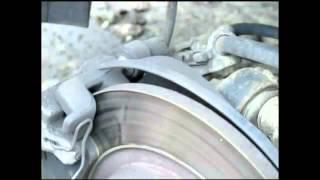 Замена тормозных дисков и колодок SAAB 9-3 SS часть1