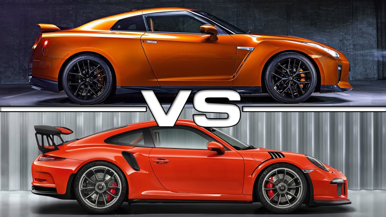 2017 nissan gt r vs porsche 911 gt3 rs youtube. Black Bedroom Furniture Sets. Home Design Ideas
