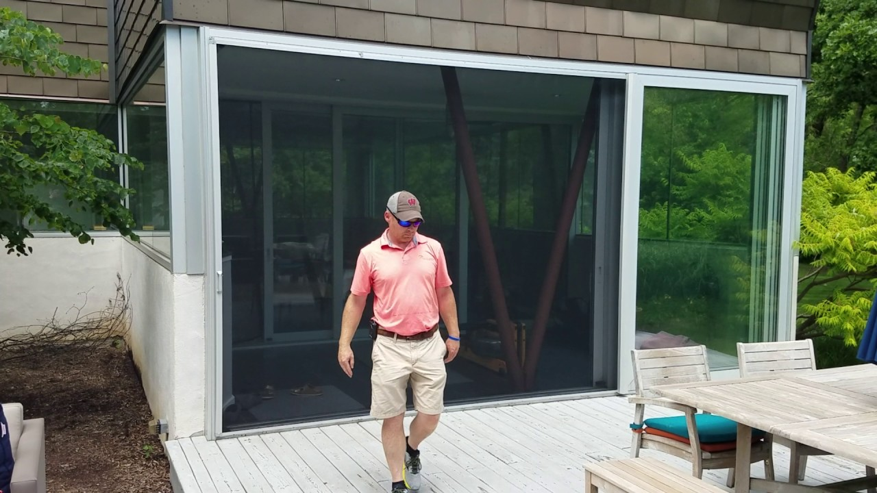 Phantom Screens XL Retractable Screen Door For Large Opening