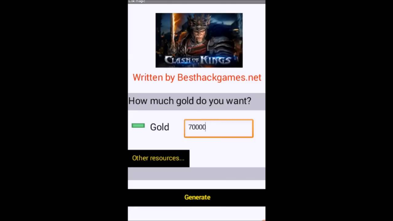 Clash of Kings Hack unlimited gold for android iOS - Best