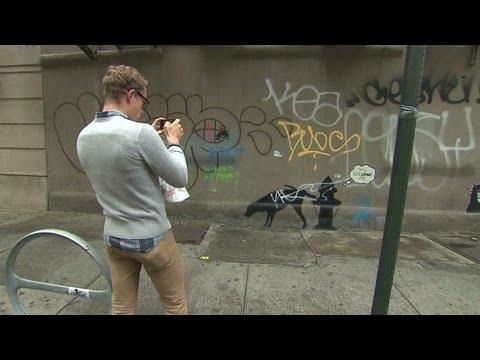 Street artist Banksy in the Big Apple
