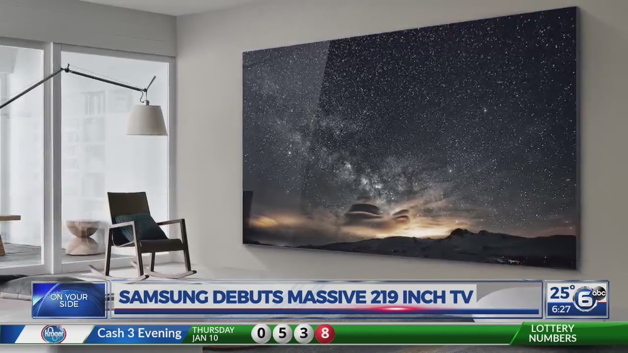 Samsung Unveils Massive 219 Inch TV Called 'The Wall'