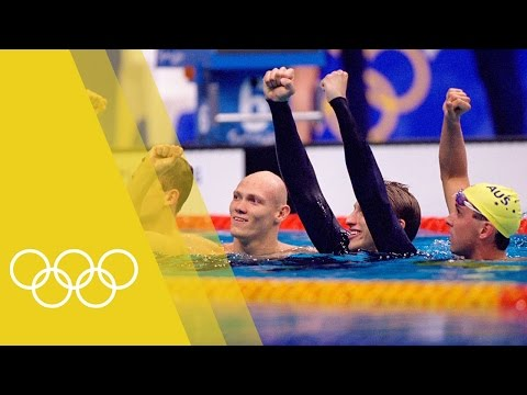 Australia win Men's 4x200m freestyle relay gold | Sydney 2000