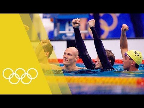 Australia win Men's 4x200m freestyle relay gold   Sydney 2000