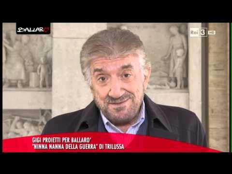 """Gigi Proietti """"Ninna nanna della guerra"""" di Trilussa - Ballarò 17/11/2015"""