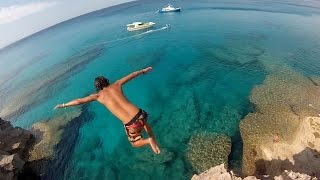 Cliff jumping and hiking on Cala Deia, Mallorca