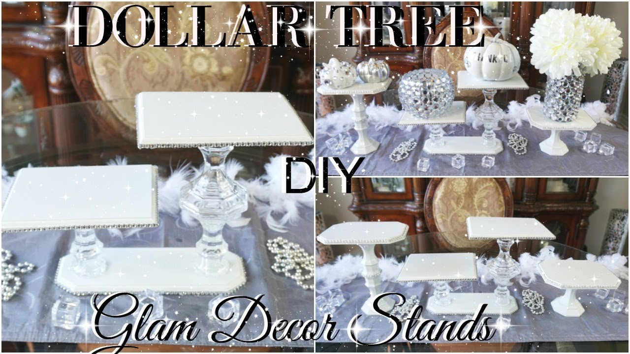 dollar tree bling decor stands 💎 dollar store diy 💎 diy glam