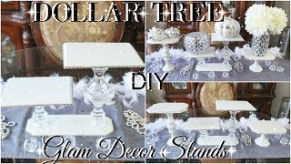 DOLLAR TREE BLING DECOR STANDS 💎  DOLLAR STORE DIY 💎 DIY GLAM ROOM DECOR 💎 DIY HOME DECOR