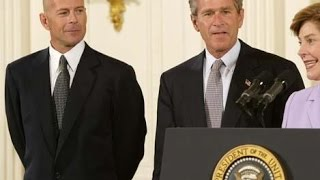 Bruce Willis & George W. Bush Announce Adoption Initiative
