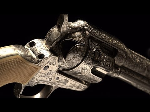 An Epic Of 19th Century Fine Arms: Panel Scene Colt Peacemaker