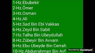 Ölmeden Önce Cennetle Müjdelenmiş 10 Sahabe (Aşere-i mübeşşere)