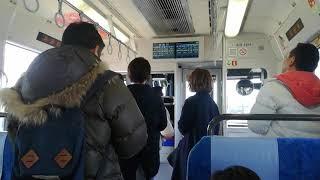 1日3本しかないワンマン快速亀山行(313系)井田川駅到着でドア扱いする運転士さん