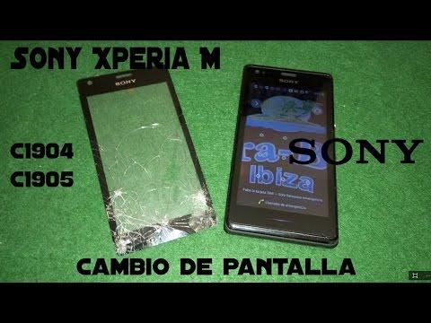 Sony Xperia M C1904 C1905 [Tutorial] Cambiar Pantalla Tactil y Digitalizador