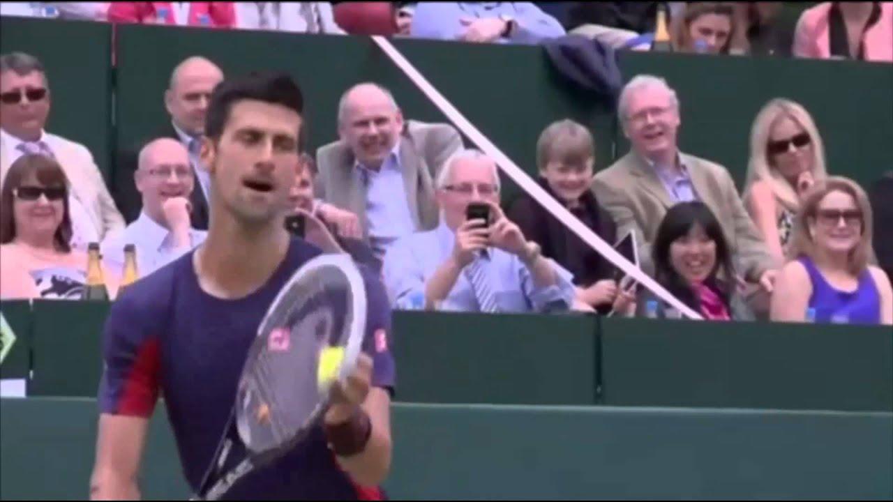 Novak djokovic imitates sharapova and nadal dating