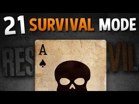 21 SURVIVAL MODE - Resident Evil 7 Card Game DLC LIVE - BANNED Footage #2