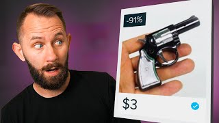 $3 Pistol?! | We Bought 10 Weapons From Wish.com!